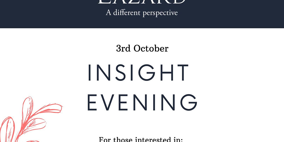 Lazard - Boutique Investment Banking -  London Event