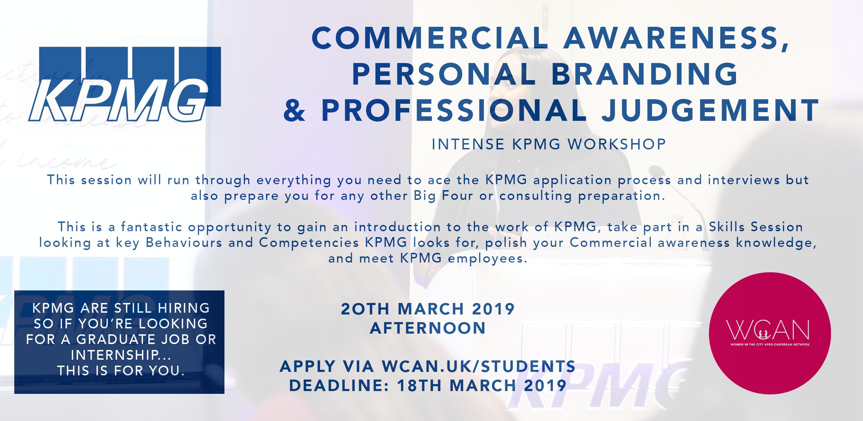 KPMG Commercial Awareness, Personal Branding & Professional