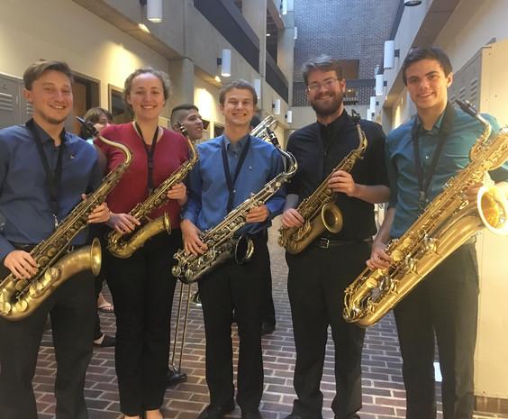 The University of Delaware Big Band Jazz Saxophone Section