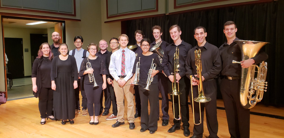 The University of Delaware Brass Choir with Bright Sheng