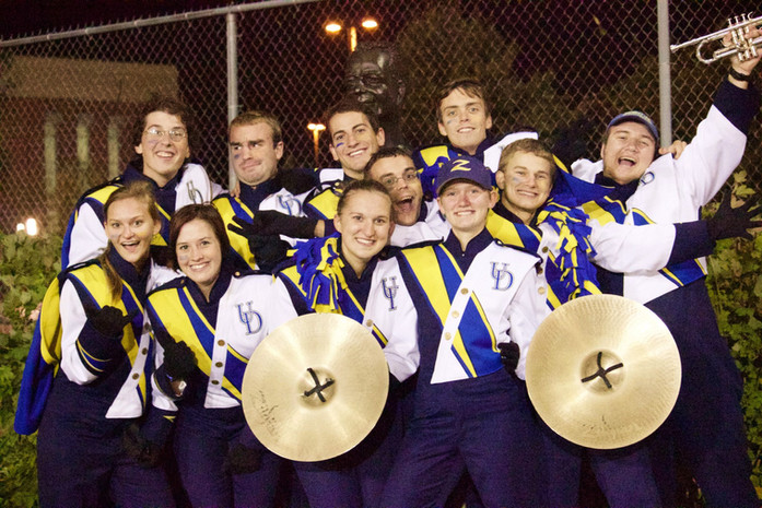 Members of the University of Delaware Marching Band