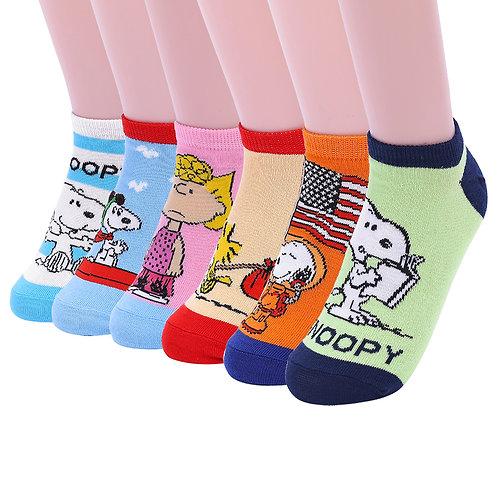 Snoopy Peanuts Kids No Show Socks