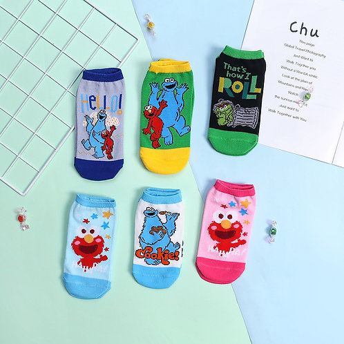 Sesame Street Kids No Show Socks