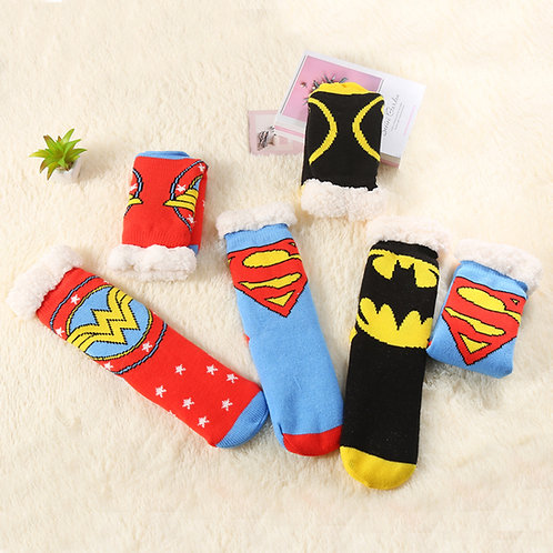 Superhero Sherpa Socks