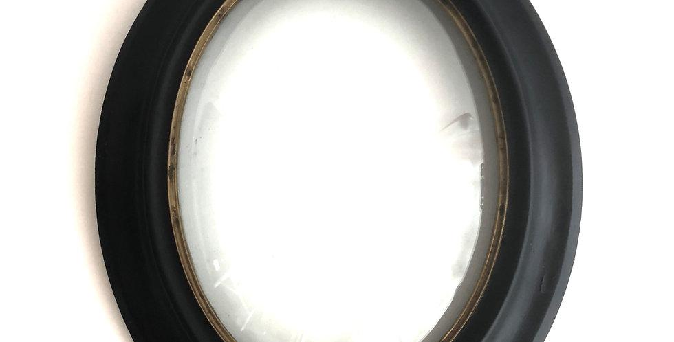 Black oval large frame