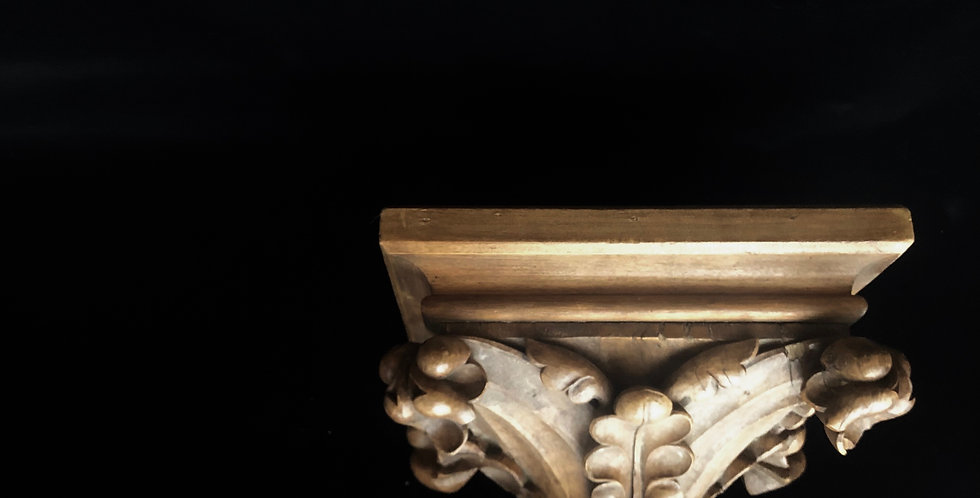 Wood carving wall console