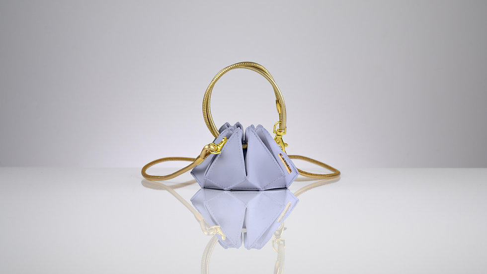 Rock mini lavender quartz gold