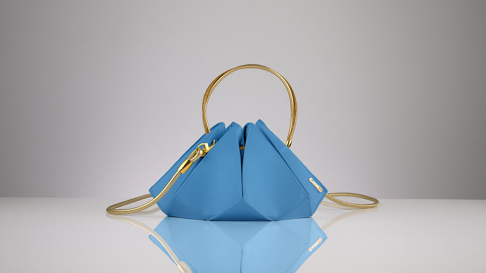Rock maxi blue topaz gold