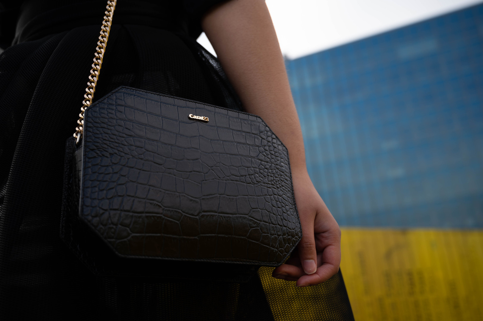 Carat23 bags - Baguette croco black