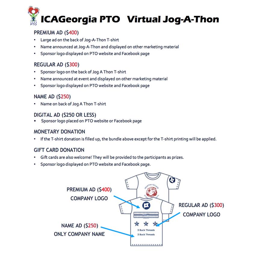 ICAG Jog-A-Thon Sponsorship Package Sale!