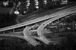 Luftaufnahme Highway