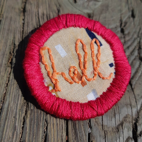 Hell Pin- Apple Red and Pumpkin-Geometric Desert