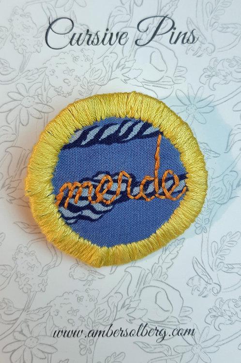 Merde Pin: Pineapple and Orange: Sailor's Knot