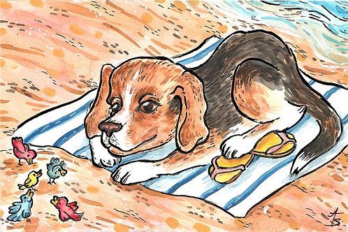 Annie pet postcard