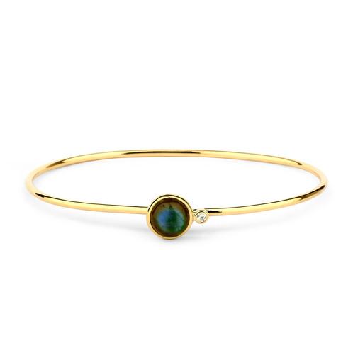 Labradorite Diamond Bauble Bracelet