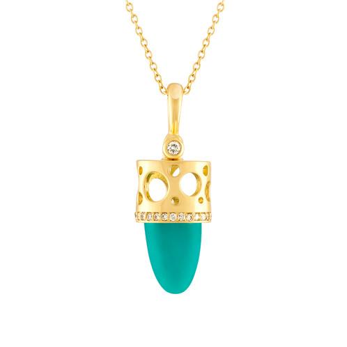 Talisman chrysocolla pendant signet jewelry denvers distinctive talisman chrysocolla pendant mozeypictures Images