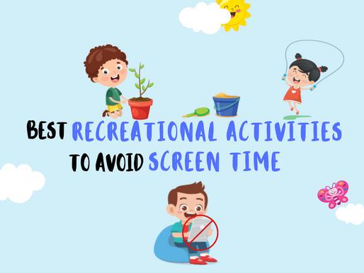 Best recreational activities for children – helping reduce screen-time