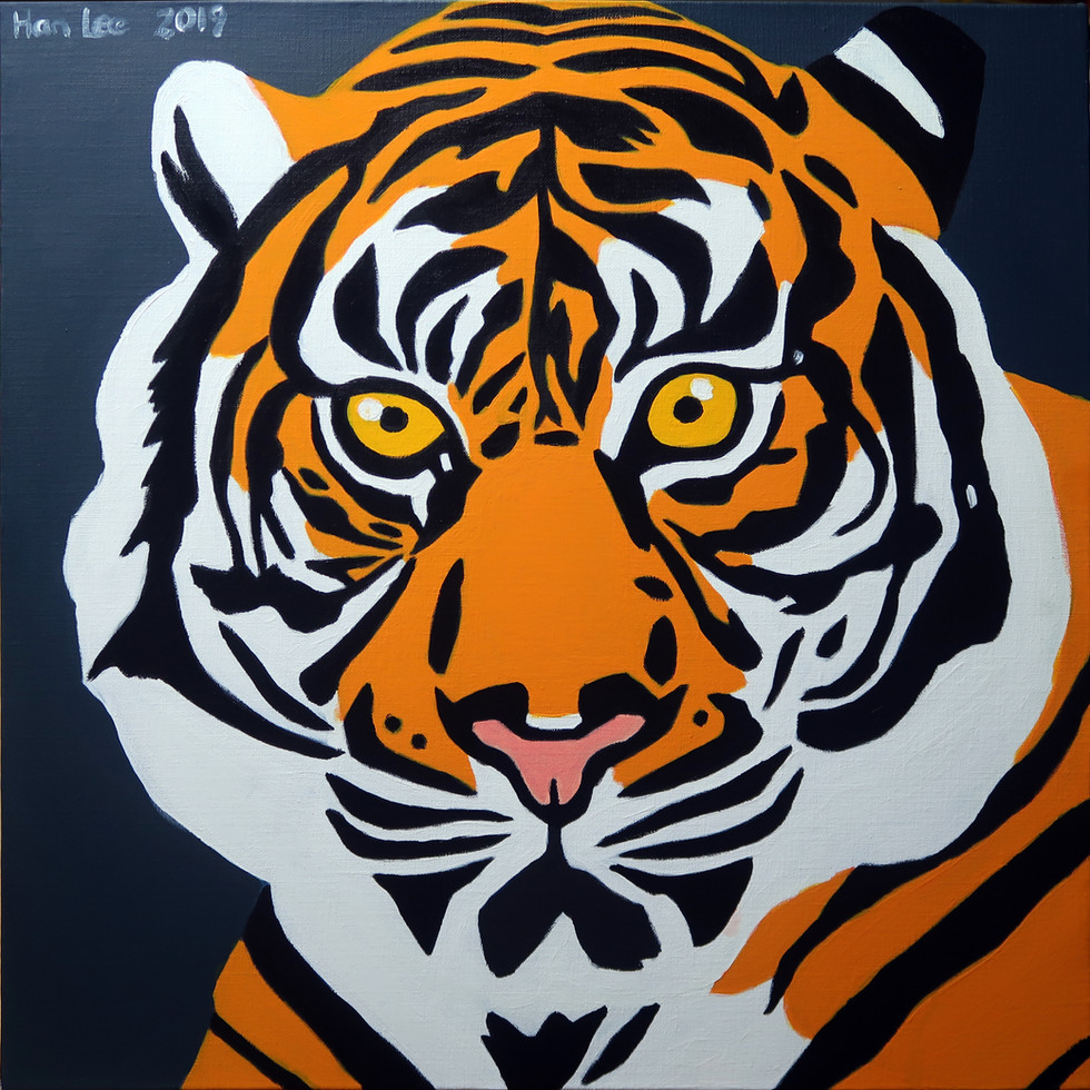 Tiger, 2019, acrylic on canvas.