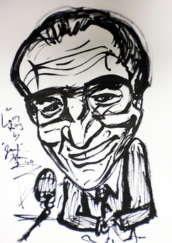 Larry King, c. 2010, ink on paper.