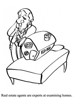Real estate manuscript illustration.