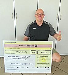 Prämienscheck   Erlauer SV Grün-Weiß 201