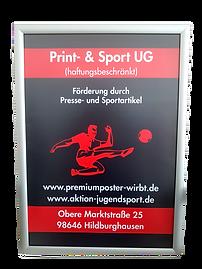 Premiumposter mit Rahmen und Werbung_bea