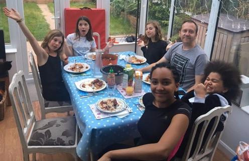 Host Family Dinner Time