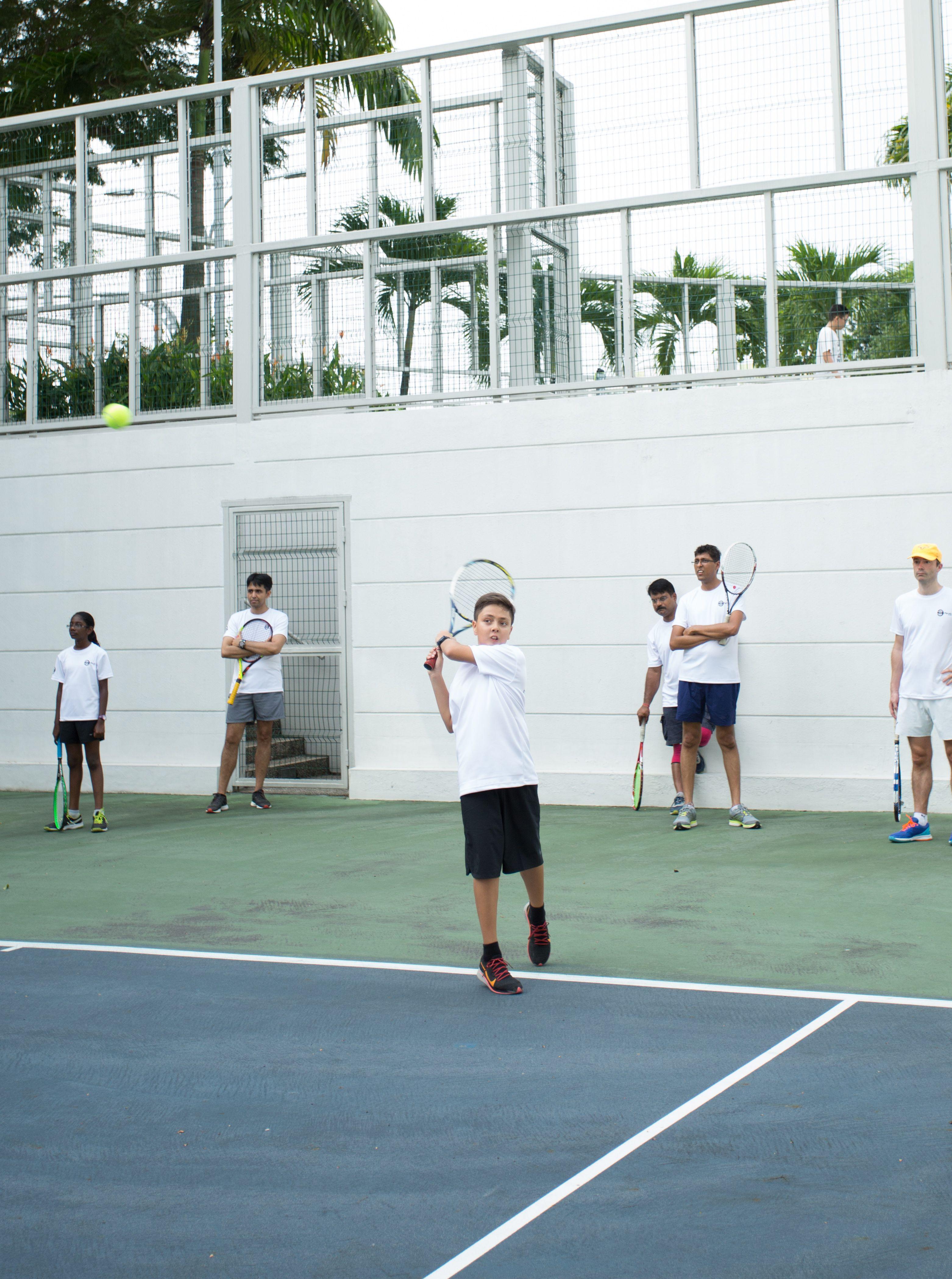 Tennis Lesson For Three