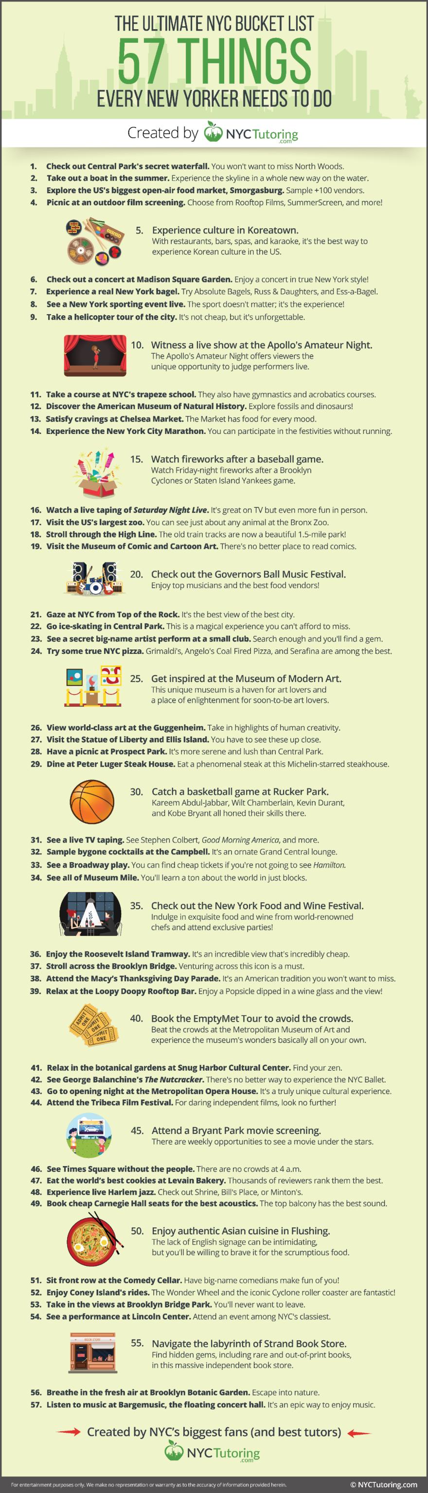 The Ultimate NYC Bucket List