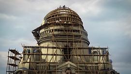 Das Bild zeigt die dreidimensionale Rekonstruktion der Kuppel der alten Frauenkirche in Dresden vor ihrer Zerstörung.