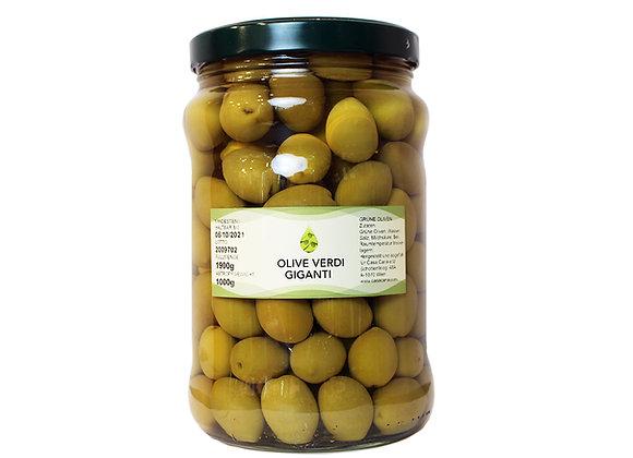 Grüne Oliven Giganti 1 Kg