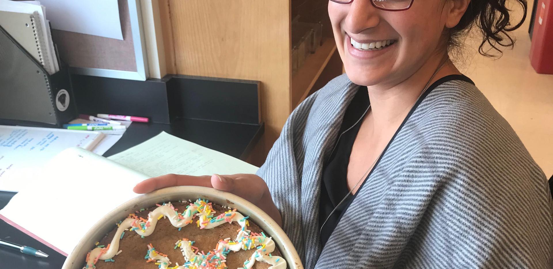 ConGRANTulations cookie cake