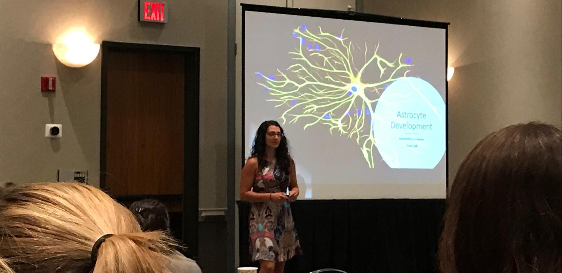 Sam presenting at the Emory Human Genetics Retreat 2019
