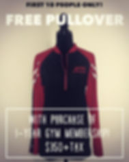 Free Pullover with Gym Membership