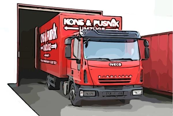 Einlagerung in Stahlcontainer bei Kons & Pusnik Umzüge