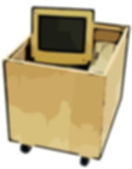 Computerkiste Computerkisten PC-Wanne PC-Kiste Transportkiste für Elektronik