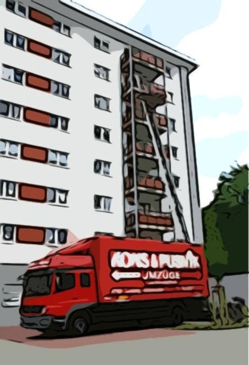 Wohnungsumzug mit Schrägaufzug in Duisburg