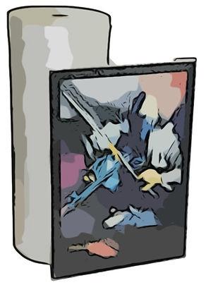 Luftposterfolie Noppenfolie für den Transport und Umzug von Gemälden und Bildern / Kunstwerken die einen erhöhten Schutz benötigen