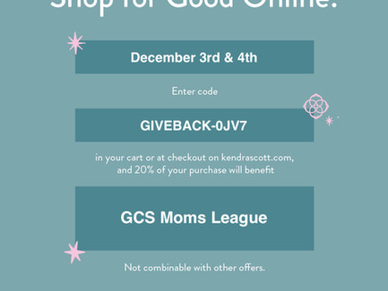 Give back this season while Christmas Shopping with GCS + Kendra Scott!