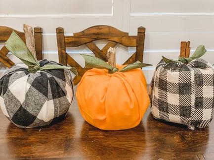 DIY Fabric Pumpkin Craft