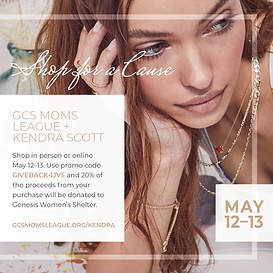 GCS Moms League Fundraising Kendra Scott