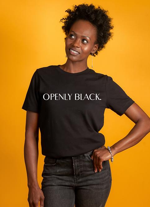 Openly Black tee