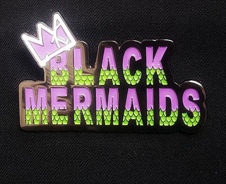 Black Mermaids Pin (Classic Design)