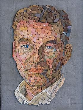 mozaïek portret Cees van 't Vee