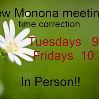 Monona new meetings