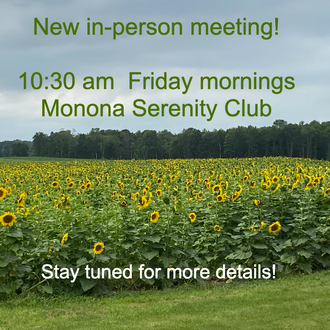 Friday 10:30 am In-person Meeting!