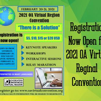 2021 OA Regional Virtual Convention!