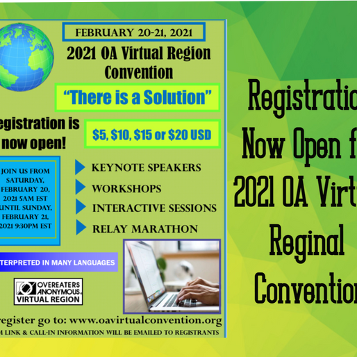 2021 OA Regional Virtual Convention!