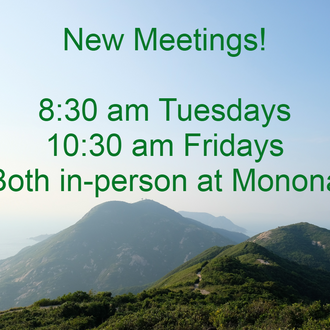 New in-person meetings!