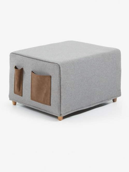 Pouf or Bed Light Grey